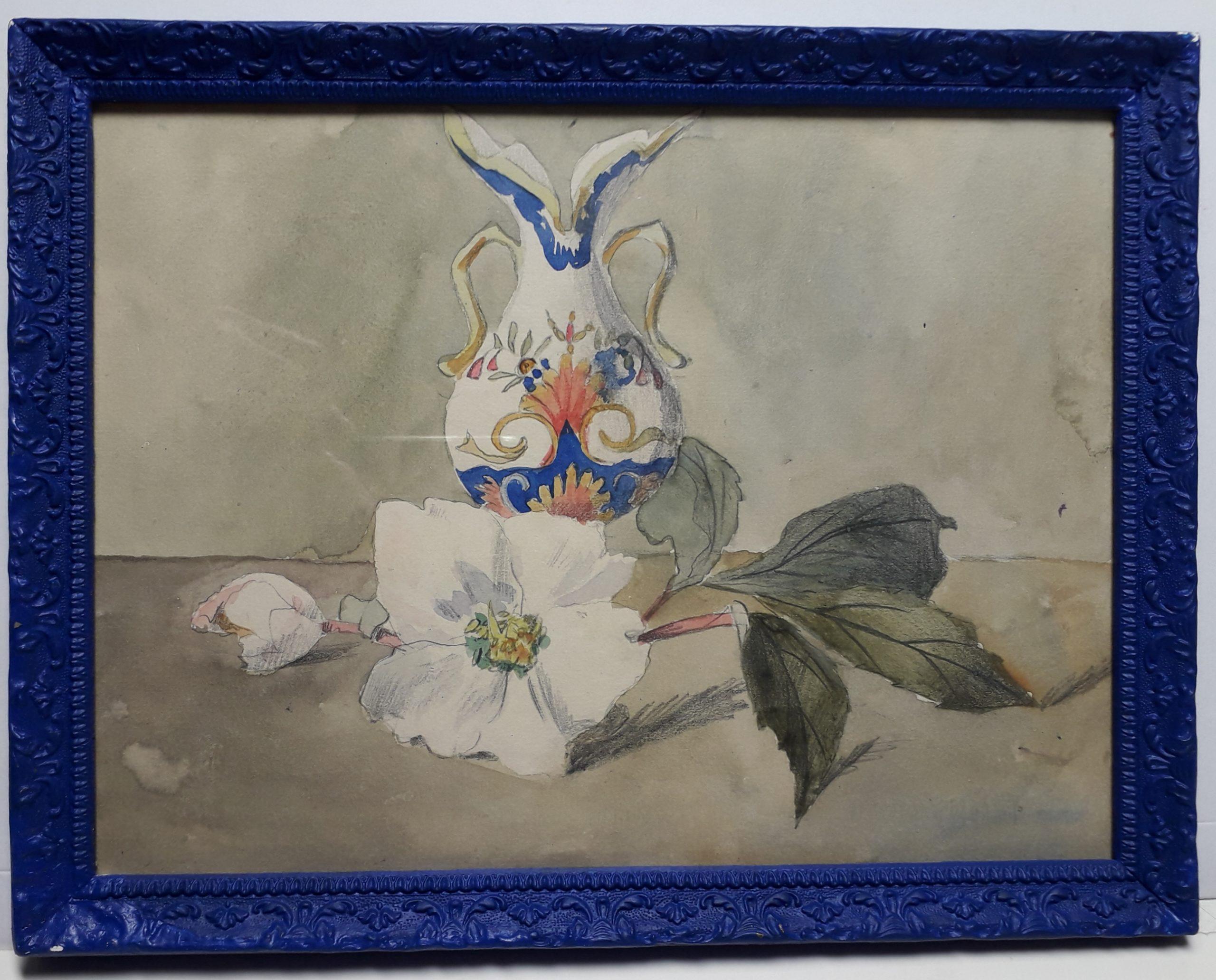 Guerin-Charvet-Renee-Jeanne-Vase-et-anemone-blanche